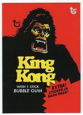 KING KONG  80th Topps Anniversary art Wrapper card
