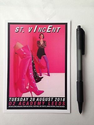 st vincent  kurt vile and violators leeds double sided flyer x 1