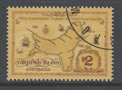 Christmas Island 1993 350th Anninversary Naming  cancelled to order stamp.