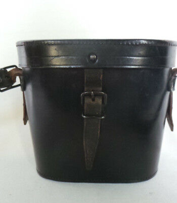 Vintage Black Leather Binoculars Case Felt Lined F. H. Gerhard Co. Rochester, NY