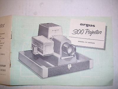 Dia argus 300 Projector 110 volt Model 3 Series