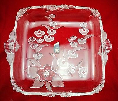 Walther Glas Kristall Schale Obstschale Chrystal Bowl Fruit Bowl