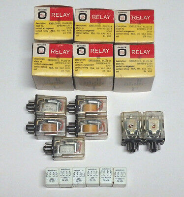 Lot of 19 Enclosed Relays with 24VDC Coils