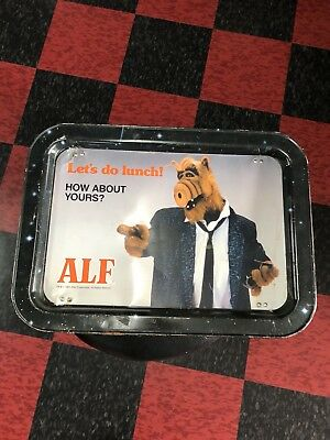 Alf TV Show Dinner Tray Vintage 80s Kids Folding Serving Table Let's Do Lunch