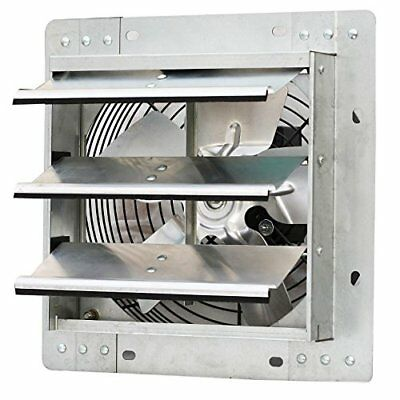 """Shutter Mounted Fan Exhaust 10"""" Automatic Explosion Proof Garage Cool Air Blades"""