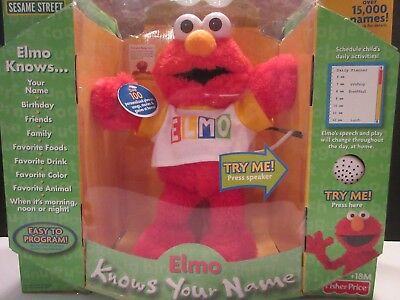 Elmo Knows Your Name Talking Electronic Plush Still in Box