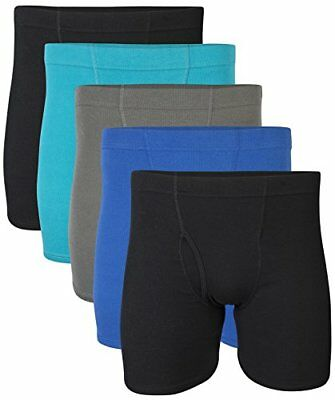 Gildan Men's Boxer Briefs With Covered Waistband Royal X-Large 5 Pack NO TAX
