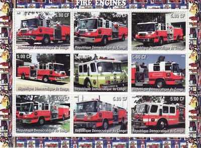 Fire Engines -  Sheet of 9  - 3A-270