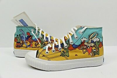 Vtg Keds Looney Tunes Road Runner Coyote Canvas High Top Sneakers Women s Size  7 6d9a3220b