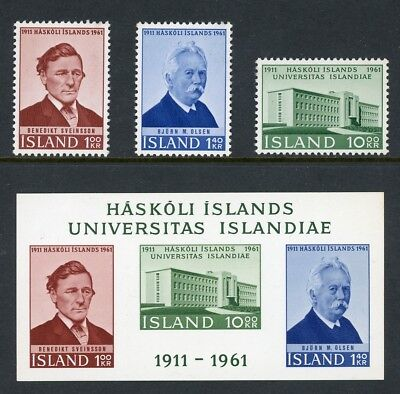 Iceland Scott #342-344a MNH University of Iceland ANN $$