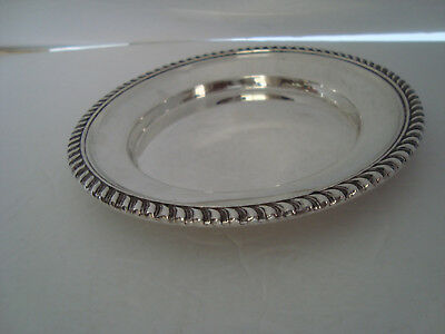 BIRKS Sterling Silver Six Inch Round Salver/Tray with Gadrooned Rim - 97.4 Grams