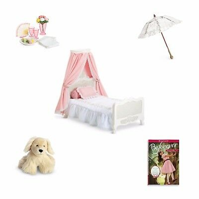 American Girl Samantha's Bed Gift COLLECTION - Samatha's Bed and 4 NEW MIB Items