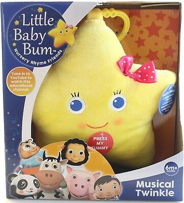 """Little Baby Bum LB8162 """"Musical Twinkle the Star"""" Plush Toy. Delivery is Free"""