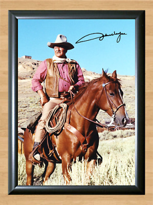 John Wayne The Alamo Signed Autographed A4 Photo Poster Print Memorabilia dvd