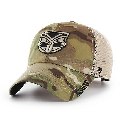 New Zealand Warriors NRL 2018 Players Jericho Camo Cap! Clean Up Adjustable!