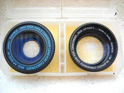 **raynox 065X Wide Angle & 1.5X Telephoto Conversion Lenses For Camcorder**