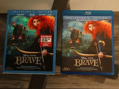 Disney Brave (Blu-ray/DVD, 3-Disc Set, Collectors Edition) w/ Slipcover