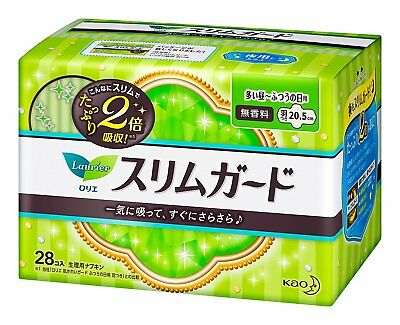 Kao Laurier Slim Sanitary Napkin with Wings 28 pcs. HWY