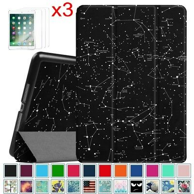 For New iPad 9.7 inch 6th Gen. 2018 / 2017 Case Cover Stand w/ Screen Protectors