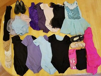 Huge Lot Girl's Dance Ballet Clothing and Accessories size 6-6x Capezio, Bloch