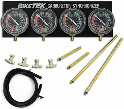 Biketek Motorcycle Vacuum Carb Carburettor  Balancer Gauges - Vga4