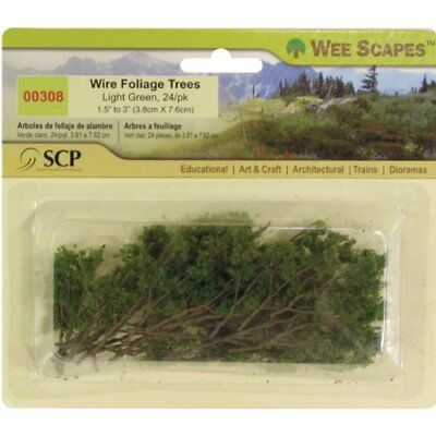 Wee Scapes Architectural Model Trees Wire Foliage Trees (light green) 1 1/2 in.