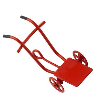 1:12 Scale Red Pulling Cart for Dolls House Miniature Fairy Garden Accessories