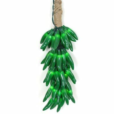 Novelty Lights CP-CLUSTER Chili Pepper Clustered Mini Light Set, Green Wire, 50