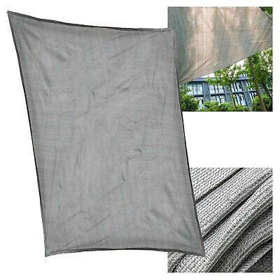 Toile solaire Voile ombrage ProtectionUV Respirant PEHD Gris 3x5m Rectangulaire