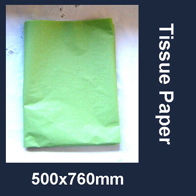 60 Lime Green Tissue Paper Gift Wrapping Craft Party Packing 500x750mm Acid Free