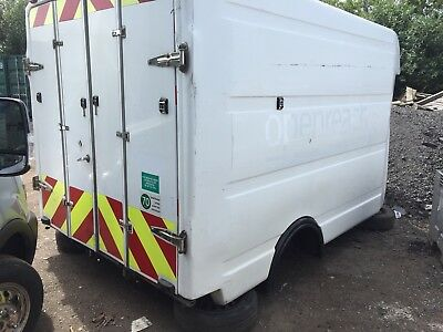 BT Box Body Trailer Shed Hay Store Watertight No maintenance Tack Room Lockable