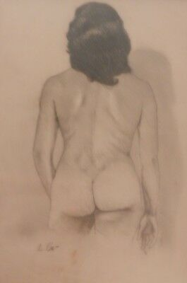 Agustin Cardenas    Graphite And Charcoal On Paper    Signed      Framed