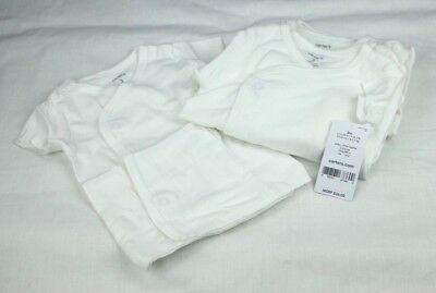 Carter's Baby White Infant Little Layette 3 months 5 Pack White Side Snap Tops
