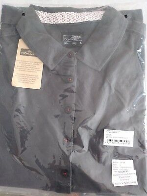 eef10ceeb4bea8 James   Nicholson Ladies Graphite Polo Shirt Size Large Brand New