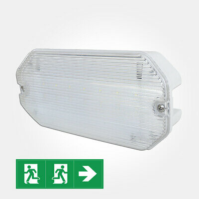 LED Emergency Light -5W Watt Maintained/Non-Maintained Bulkhead Exit Sign IP65.