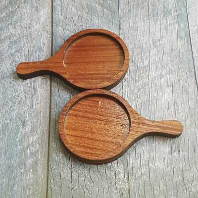 2x Wooden Wood Pizza Pie Pan Dollhouse Miniatures Food Supply Kitchen Wholesale