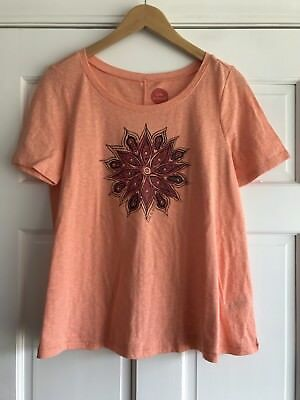 Life is Good Womens Trapeze Tee Mandala Dragonfly Clyred T-Shirt,