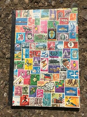 Old Collectors Stamp Book - Italian, British/English, Royal Postage Collection