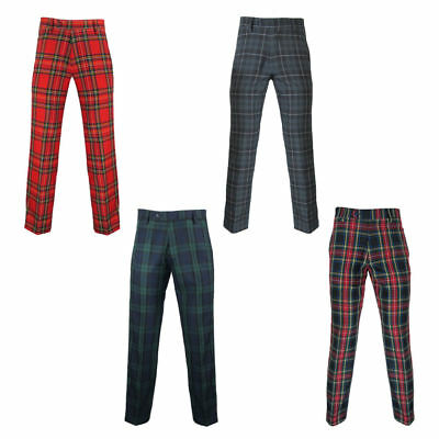 "Murray Scottish Golf Trousers In Tartan - 31"" Inside Leg"