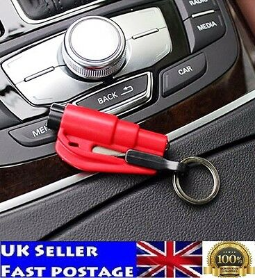 RED Hammer Emergency Rescue Tool  Seat Belt Cutter Window Break Car Life Saving