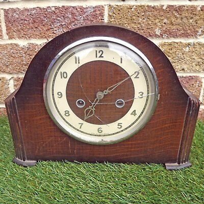 Smiths Enfield 8 Day Strike / Mantelpiece Clock / Spares Or Repair
