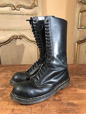ab306aab9e15 VTG Doc Dr. Martens Women s Tall Black Leather Boots US Size 9.5 Steel Toe