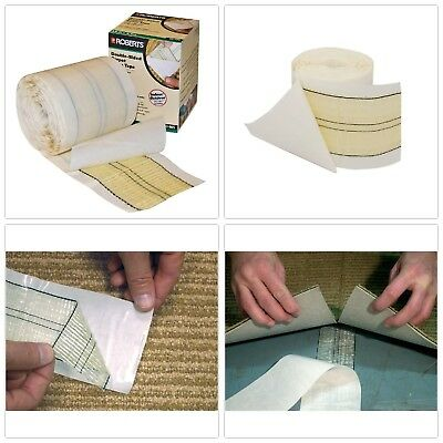 Double Sided Carpet Tape Roll Indoor Outdoor Adhesive Peel Stick Quick Bonding