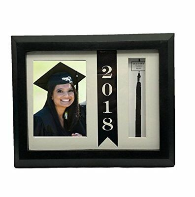 Cause of Graduation of 2018 Picture Beveled Frame with Hat Tassel Holder