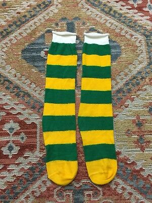 Vintage 60s Stripe Rugby Socks Womens Fits Sizes 7-10