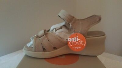 New Easy Spirit Anti Gravity Stone Tan Sandals Size 8 W -Nib