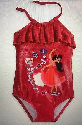 cfa7e5681fd DISNEY Store SWIMSUIT for Girls ELENA OF AVALOR 1 Piece PICK Size 5/6 NWT
