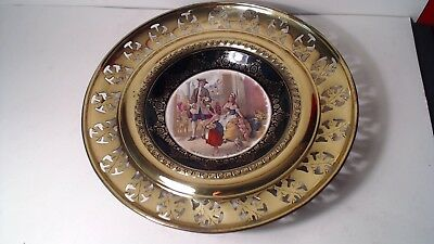 """Vintage Regency Bone China Plate Perforated Brass """"cries Of London"""" England"""