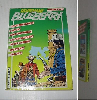 BLUEBERRY POCKET n°1,3000 MUSTANGS,EO 1983 TBE,GIRAUD,EDITIONS EPI,INEDITS
