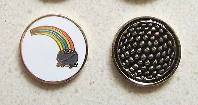 1 only POT OF GOLD GOLD GOLF BALL MARKER PLUS A GOLF  HAT CLIP